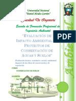 Evaluacion de Impacto Ambiental en Proyectos de Conservacion de Suelos y Agua