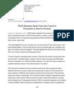 Press Release Transit Study Release (Sept 2, 2010)
