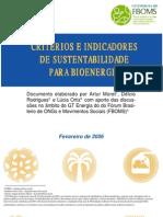2006 - Indicadores de Bioenergia