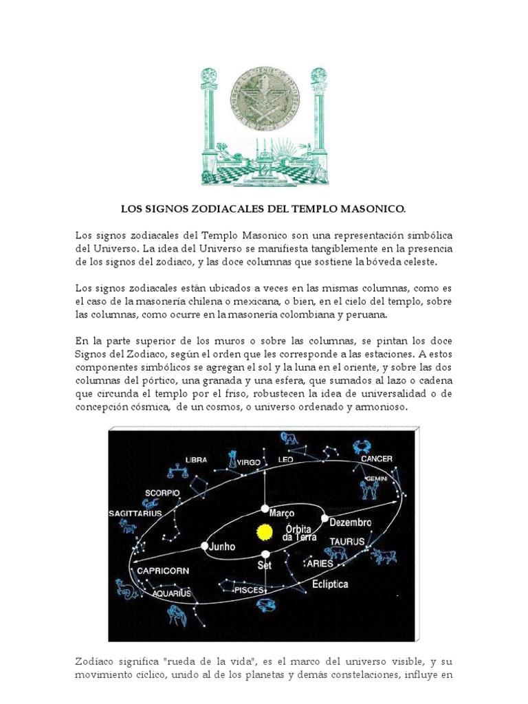 Herbert ore los signos zodiacales del templo masonico - Orden de los signos zodiacales ...