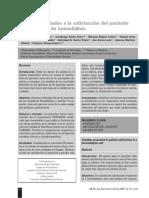 Variables Asociadas a La Satisfaccion Del Paciente en Hemodialisis