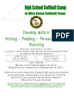 Mira Costa High School Softball Camp