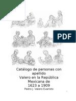 Catalogo de Personas de Apellido Valero