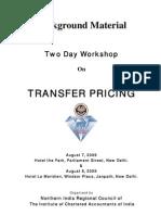 Workshop on Transfer Pricing 7 8Aug09