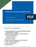Elementy i procesy projektowania - prezentacja UJ