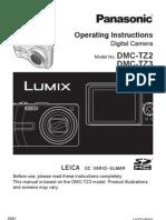 Digital Camera User Manual - Panasonic Lumix DMC-TZ3