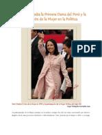 Nadine Heredia La Primera Dama Del Peru y La Inclusion de La Mujer en La Politica