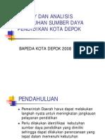 Survey Dan Analisis Kebutuhan Sumber Daya Pendidikan Kota