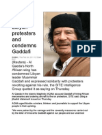 Al Qaeda Backs Libyan Protesters and Condemns Gaddafi