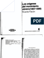 FALCON RICARDO - Los Origenes Del Movimiento Obrero (1857-1899)
