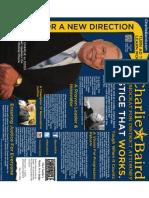Charlie Baird Campaign Austin Chronicle Ad for Nov. 17. 2011--Print Version
