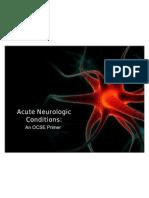 Acute Neurological Conditions OSCE
