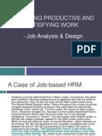 HR Week4(Taylorism & Job Analysis)