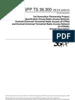 3GPP TS 36.300 V8.5.0 (2008-05)
