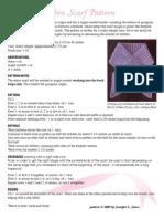 Crochet Pink Ribbon Scarf