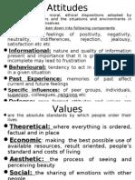 Attitudes, Values and Beliefs
