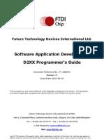 D2XX Programmer's Guide(FT 000071)