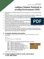 Procedure to Configure Notebook to SOE 2011