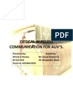 Optical Wireless Communication for Auv