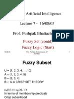 16 08 05 Fuzzy Set Fuzzy Logic
