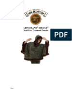 Fur Trimmed Boucle Poncho