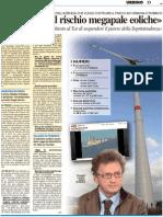 «C'è ancora il rischio megapale eoliche»