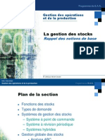 Gestion Des Stocks Notions de Base