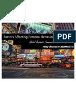Factors & Values Affecting Personal Behavior