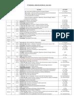 4th Periodical Schedule
