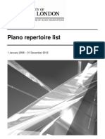 Piano Repertoire List