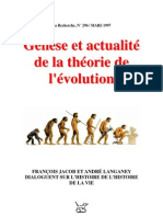 Francois Jacob Genese Et Actualite de La Theorie de Levolution