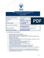 EILC Yasar University InfoSheet 2012 Spring