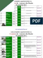 Lista Apartamentelor Cu 4 Camere de Vanzare Din Bacau La Data 20 Noiembrie 2011(Download PDF)