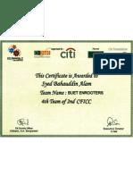 CFICC Certificate