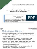 MFIX on of Discrete Element Method