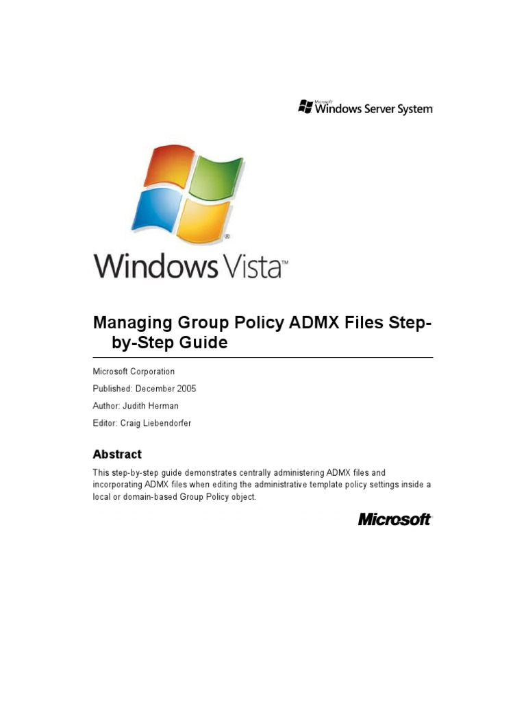 Managing Group Policy ADMX Files Step by Step Guide   Group