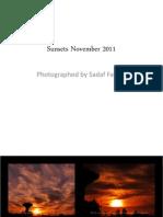 Sunsets November 2011