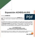 Exposición ACHEIQ