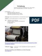Einladung Papiermaschine