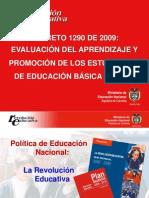 Presentacion Del Decreto 1290 de 2009