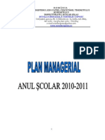 plan managerial an 2010-2011