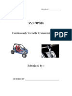 Continuously Variable Transmission (CVT)