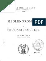 Theodor Capidan - Meglenoromânii in 3 volume(1925 - 1934)