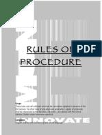 Procedure Handbook