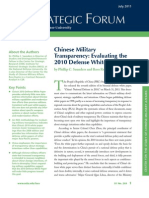 China Defence Paper 2010