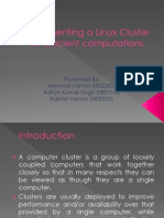 Implementing a Linux Cluster for Efficient Computations