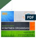 Kelompok 9 - MSDM II - Manajemen B 09 [ Komitmen Organisasi ]