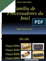 Família de Processadores       da Intel