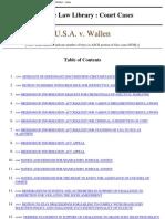 Wallen Cases