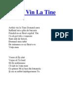 Astazi Vin La Tine